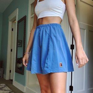 Blue vintage nike-fit skirt